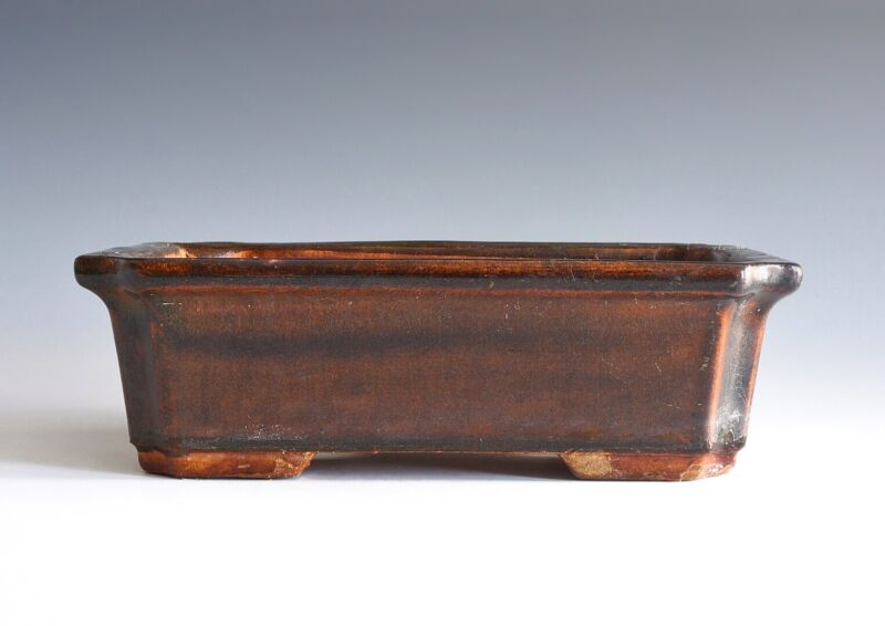 A Chinese Brown Glazed Planter