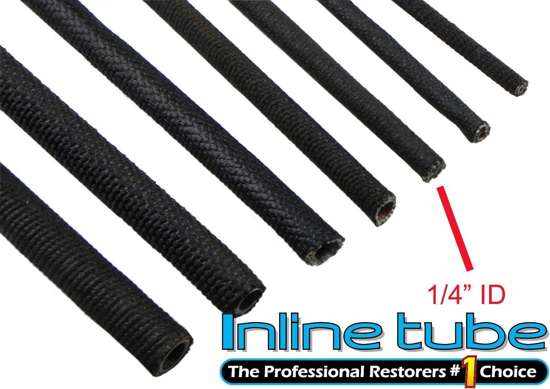 64-81 Black Cloth Wrap Wiring Harness Brake /& Fuel Line Tube Wire 3//8 ID PER FT