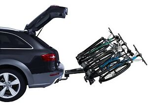 Thule 927 VeloCompact 4 Bike Cycle Carrier TowBar TowBall Mount Tiltable Locking