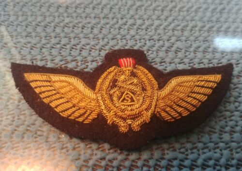 IRAQI PILOT WINGS BULLION FROM THE SADDAM PERIOD 2003 BRING BACK