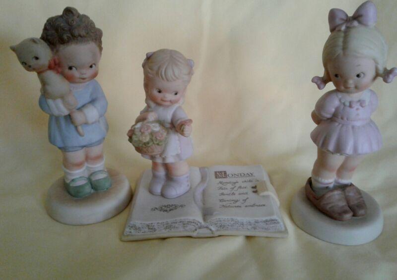Memories of Yesterday Figurine LOT of  3 Monday