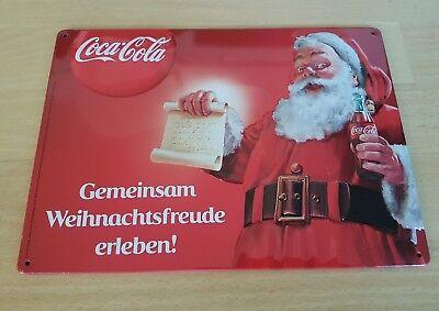 """Weihnachts-Blechschild Coca Cola """"Gemeinsam Weihnachtsfreude erleben"""" *NEU*"""