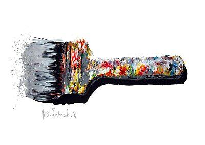 Mr Brain Wash Paint Brush  Canvas fine art 20 x 30 Inch A1 modern new Large