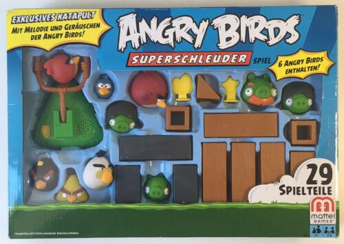 Angry Birds Superschleuder Spiel Kinderspiel Mattel Games Steinschleuder