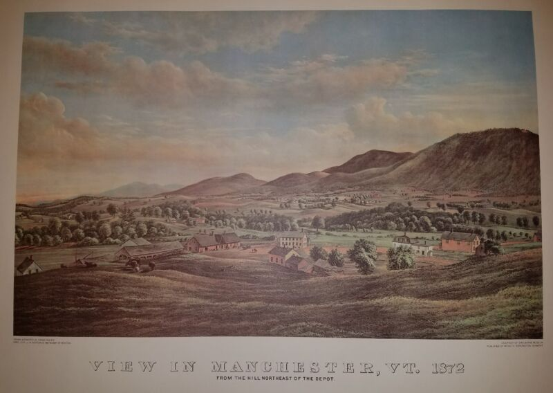 View in Manchester Vermont 1872 Print Manchester VT