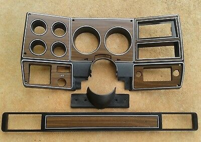 73-80 chevy GMC NEW pickup truck dash bezel gauge cluster cover woodgrain wood