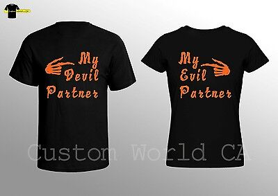 Halloween Couple Shirts - Shirts for Halloween - Horror Tees for Couple ](Couples For Halloween)