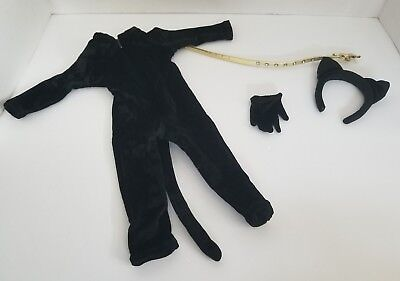 American Girl Doll Kitty Cat Outfit Halloween Costume Pleasant Company Black AG](Ag Doll Halloween)