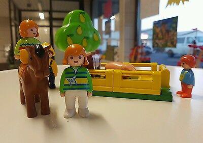Playmobil 1•2•3 - Bauer mit Tieren auf der Sommerwiese
