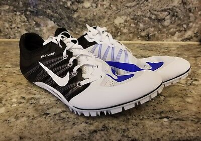 dd0b1df0f5cbe Nike Zoom Ja Fly 2 Spikes Running Shoes White Blue Black 705373-100 Size 12
