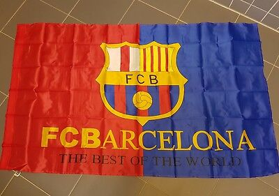FAHNE Flagge FC Barcelona Fanfahne NEU Ca. 85x145 TOP