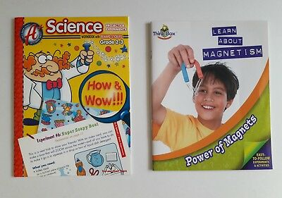 Science Projects & Experiments Workbook & Learn About Magnetism Activity Book