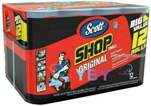SCOTT Professional Multi Purpose Shop Paper Towels 55 Sheets Roll 12 Rolls