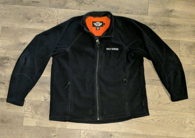 Mens Harley Davidson Fleece Windstopper Riding Jacket Size Large Black