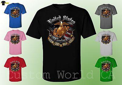 Last Marine - USMC Marine Corps Shirts The Few The Proud Last Stand New Design -  Licensed Tee