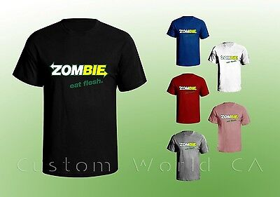 Zombie Eat Fresh Men T Shirt - Humor College T Shirt - Zombie Halloween Tee - Halloween Humour
