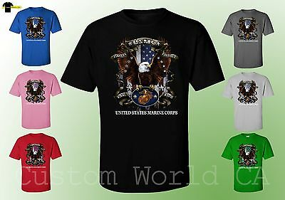 Last Marine - USMC Marine Corps Shirts Firs in Last Out T Shirt New Design -  Licensed Tee