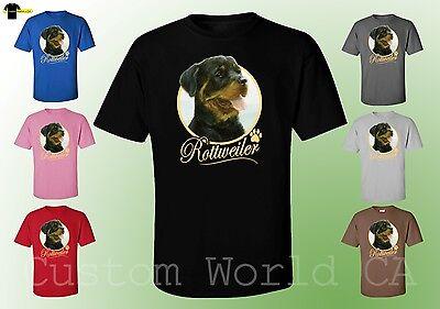 Dog Design Tee T-shirt - Men T-Shirt - Rottweiler Dog Image Puppies Very Cute Dogs New Design Men Tee
