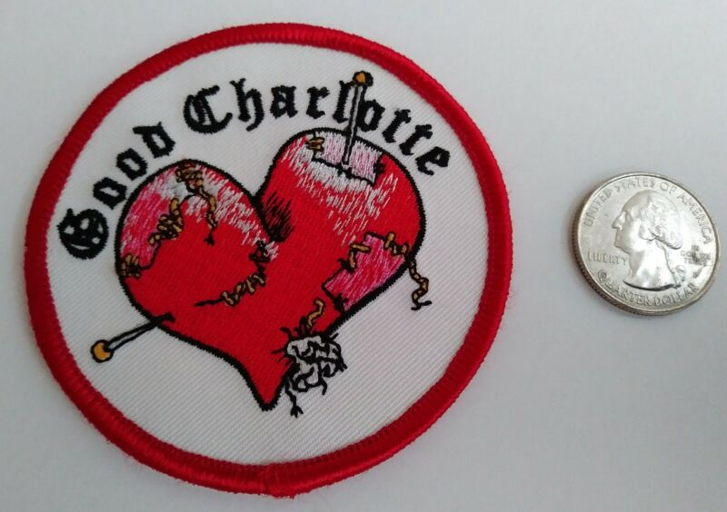 Good Charlotte Heart Embroidered Iron On Patch (Rock Band, Music) New - Rare
