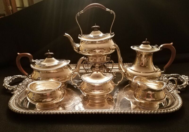 ENGLISH STERLING SILVER TEA & COFFEE SET