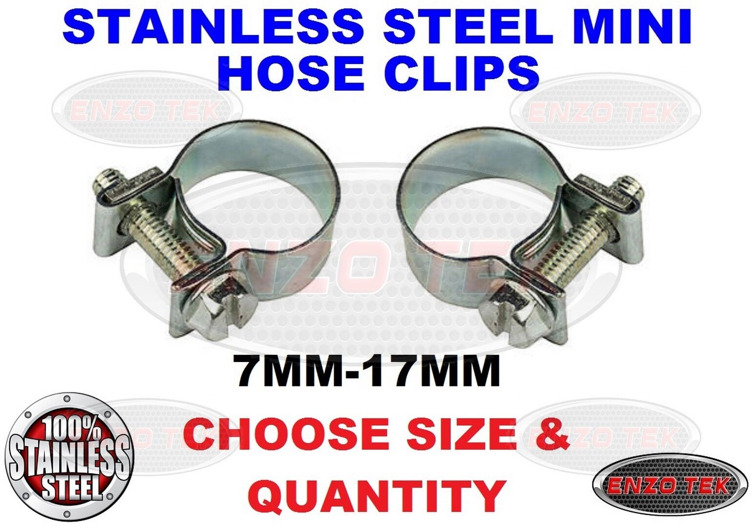 Mini NANO® Fueline Hose Clips Petrol Pipe Tubing Clamp Diesel Air Water Gas UK