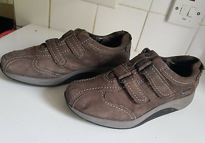 GABOR ROLLING SOFT WOMEN GREY LEATHER COMFORT TONE WALKING SHOES SIZE UK 6 EU 39