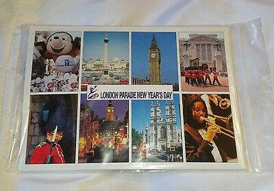 London Parade New Years Day Postcard Set With Pen 1999