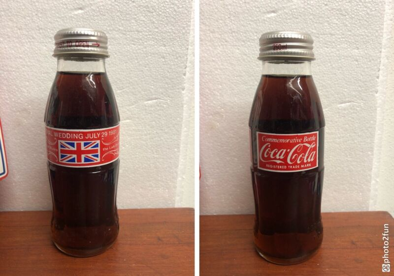 Coca Cola Bottle Rare Uk Charles & Diana Royal Wedding 1981