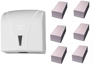 Handtuchpapierspender weiß Handtuchspender NEU inkl. 1500 Blattinkl. Versand