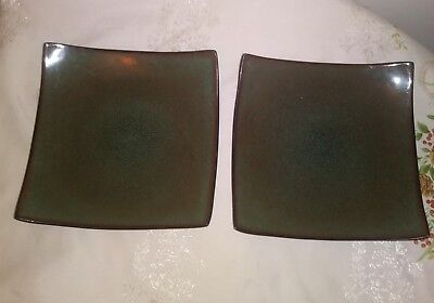 """Gibson Gabbay Fusion Wasabi Green Two Salad Plates 8 5/8"""" for sale  Athens"""