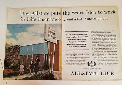 1962 Allstate Life Insurance Salt Lake City Building Sears Idea Ad