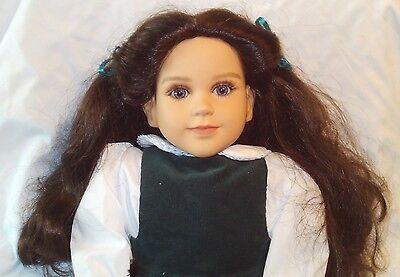 "1996 My Twinn Poseable 23"" Doll Long Brown Hair Blue Eyes EUC w/Clothes MyTwinn"