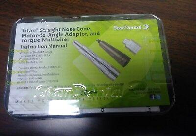 Lot Of 3 Star Dental Titan Straight Nose Cone Handpiece 30 Day Warranty
