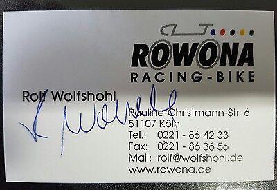 Visitenkarte m.Orig.AG Rolf Wolfshohl BRD Radsport 1.WM 60/61/63 Querfeldein