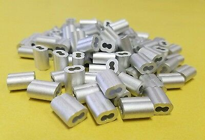 Aluminum Swage Sleeves For 18 Wire Rope Cable 50 100 200 500 And 1000 Pcs