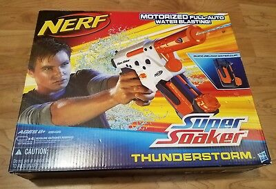 Nerf Super Soaker Thunderstorm Clip Fed Full Auto Water Gun Battery Operated New