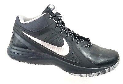 Nike Mens The Overplay VIII Black Basketball Shoes 637382-015 Sz 14 US / 48.5