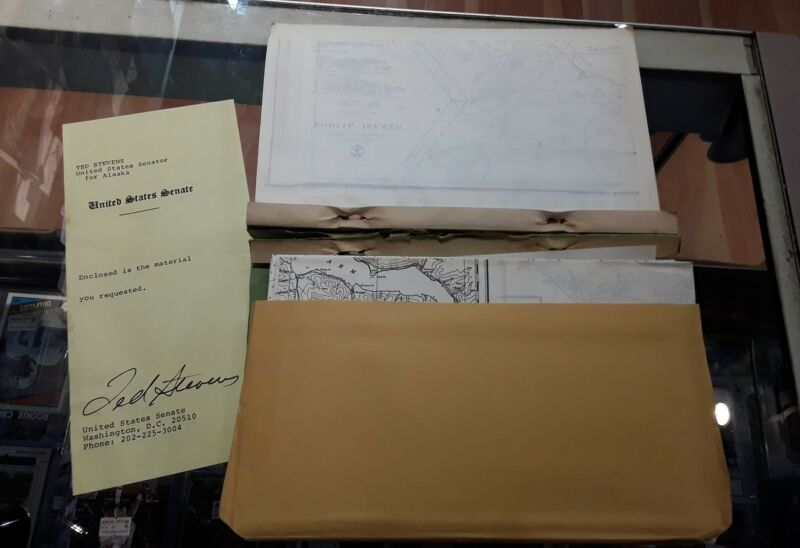 Vintage Transcript Provisional Charts Delimiting Alaskan Boundaries 1972 Rare