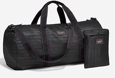 NWT: Victoria's Secret Packable Weekender Getaway Bag Tote Black