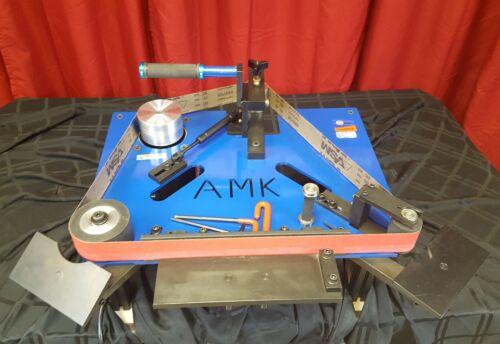 AMK-73 2 X 72 Horizontal Belt Grinder, 1.5hp motor