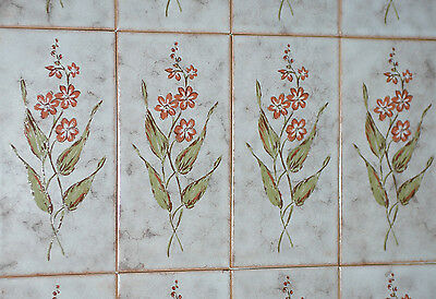 Vintage Italian Classical Wave Pattern Fancy Subway Tiles Old Architectural Salvage Decorative Tiles Ceramic Tiles