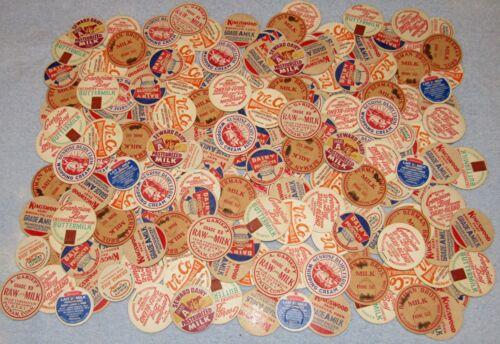 Lot of 200 Vintage Milk Dairy Bottle Caps