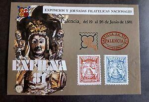 HOJAS-RECUERDO-ESPANA-EDIFIL-NUM-98-1981-EXFILNA-PALENCIA