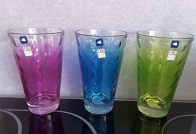 6 Stck. Leonardo Gläser NEU !!! FARBE WÄHLBAR !!! Blau !! Grün !! Lila !! 300ml ()
