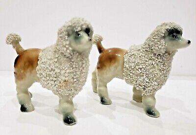 LOT OF 2 Vintage 1950's Spaghetti Poodle Dog Figurines 196/7