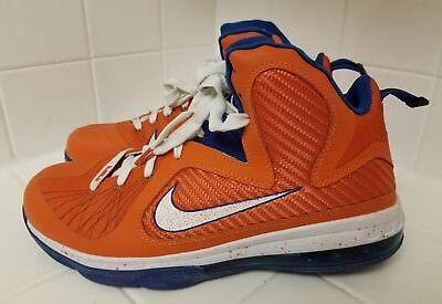 072bff94022 Rare Mens Nike Lebron 9 Swingman Basketball Shoe Orange Blue White Size 10