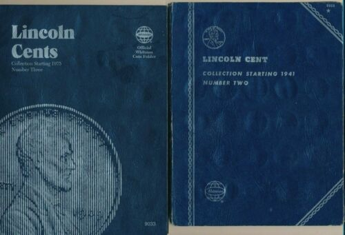 1941-2011 COMPLETE LINCOLN CENT COLLECTION-2 ALBUMS-174 COINS! LOADS OF RED BU
