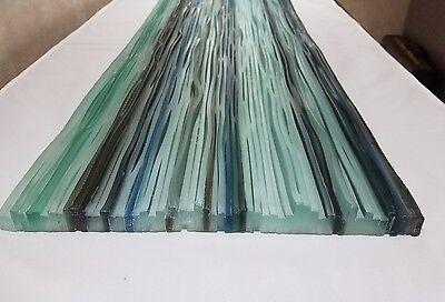 "Artistic Glass Tile frost multi color column/slab 12"" x 32"""