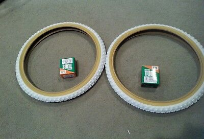 TWO DURO 20X2.125 BICYCLE TIRES BMX BLACK WITH GUMWALL COMP 3 MX3 STYLE 2