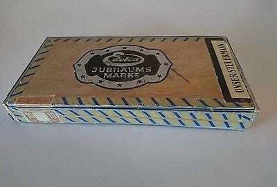 Zigarrenkiste Zigarrenschachtel Holz Unser Steuermann 25 Edeka 10 Reichspfund